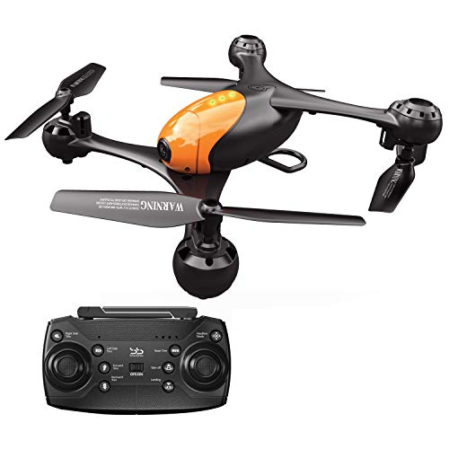 ScharkSpark Drone SS41 The Beetle Drone with 2 Cameras - 1080P FPV HD Camera/Video and 720P Optical Flow Positioning Camera, RC Toy Quadcopter Equipped with Lost-Control Protection Technology