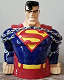 Superman Cookie Jar - Warner Bros Brothers Exclusive 1997 - stamped DC Comics