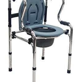 Veayva premium commode chair/stool with step walker folding portable (5 in 1)