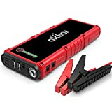 aickar Car Jump Starter, 1200A Peak 19800mAh 12V Auto Battery Booster (Up to 8.0L Gas & 6.0L Diesel Engine) Portable Battery Power Bank, Built-in LED Flashlight with Car Jumper Cables Heavy Duty