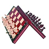 Travel Magnetic Chess Set w/ Wooden 10.4' Board and Chessmen