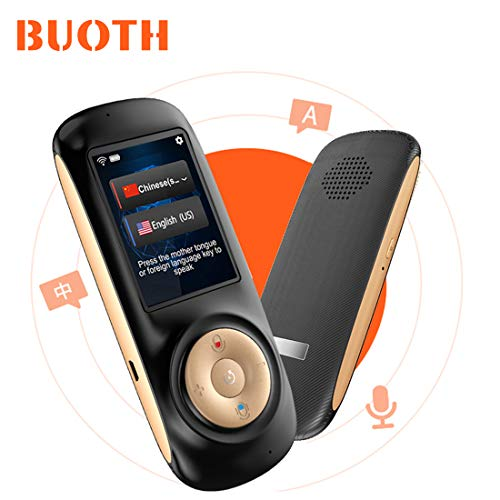 Smart Language Translator Device with WiFi or Hotspot 2.4 Inch Touch Screen Support 70 Languages Two Way Voice Translation for Travelling Learning Business Shopping(Black)