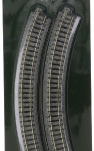 Kato USA Model Train Products Unitrack, 249mm (9 3/4″) Radius 45-Degree Curve Track (4-Piece) 41xYls3yg6L