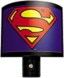 Ata-Boy DC Comics Superman Logo Automatic On/Off LED Bulb Nite Lite