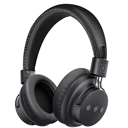 Mpow H1 Bluetooth Headphones Over-Ear, Lightweight Wireless Headset for Sport, Powerful Bass Headphones and Wired Mode for PC/Cell Phones
