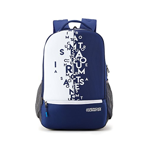 41xhlswNAjL - American Tourister 32 Ltrs Blue Casual Backpack (AMT Fizz SCH Bag 02 - Blue)