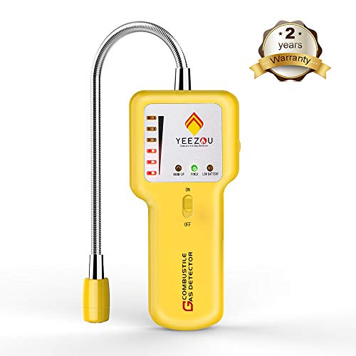 Natural Gas Leak Detector - Upgraded Portable Propane Methane Combustible Gas Sniffer Detector with Sound & Light Alarm, Gas Tester