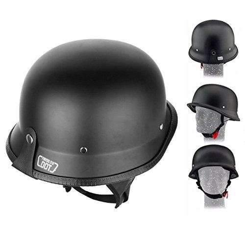Iglobalbuy Dot Approved German Half Helmet Choooer Cruiser Custom