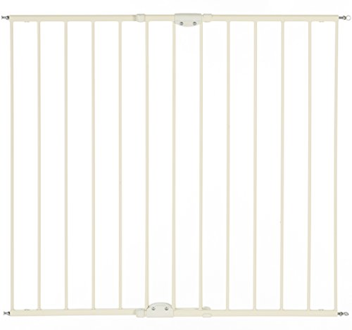 """Tall Easy Swing and Lock Gate"" by North States: Ideal for standard or wider stairways, swings to self-lock. Hardware Mount. Fits openings 28.68"" to 47.85"" wide (36"" tall, Soft white)"
