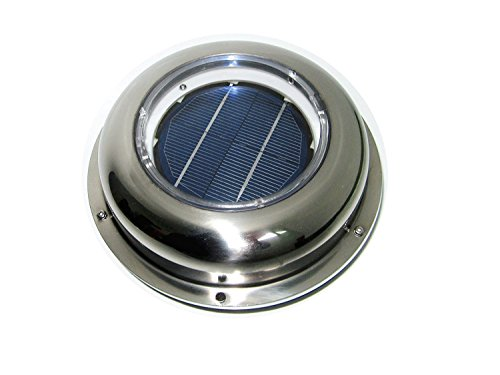 ECO-WORTHY Solar Powered Attic Fan Solar Venting Stainless Steel Solar roof fan Vent