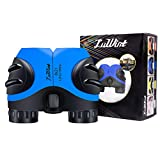 Luwint 8 X 21 Binoculars for Kids, Mini Compact and Image Stabilized Educational Science Toys Gifts for Boys Girls Ages 3-12 Years Old (Blue)