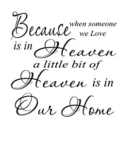Download Amazon.com: Because someone you love is in Heaven 11x11 ...