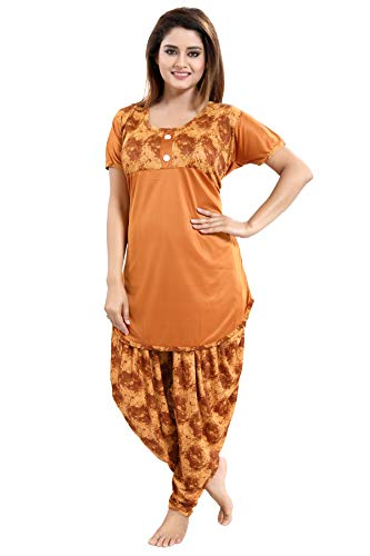 Tucute Top and Dhoti Style Bottom Night Suit/Nightdress for Women and Girls (Size: L/XL/XXL) 1  Tucute Top and Dhoti Style Bottom Night Suit/Nightdress for Women and Girls (Size: L/XL/XXL) 41y5HsdpA6L