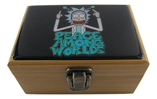 Rick y Morty hierbas Stash Box Combo-Molinillo de 2' pulgadas, 2.5' pulgadas tarro de...