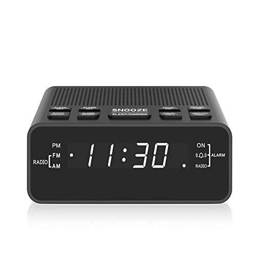 Clock Radio, Digital AM FM Alarm Clock Radio for Bedroom