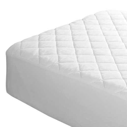 Queen Size Mattress Protector – Waterproof, Vinyl-Free Cotton Bed Cover. Premium Quality Liner Sheet for Cool, Comfortable, Quiet Sleep. 60 x 80 in