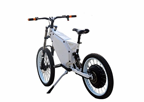 Green Peasant 3000w electric ebike full suspension off road mountain bike - motorcycle rims and tires - PANASONIC battery - RockShox suspension - Shimano Hydraulic brakes