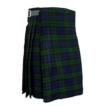 TC-Kilt-de-Mens-Montre-Noir-cossais-Traditionnel-Highland-Robe--Carreaux-8-Yard