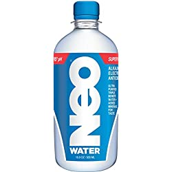 Neo Super Water - Alkaline, Electrolytes, Antioxidants, 16.9 Ounce (Pack of 24) (Packaging May Vary)