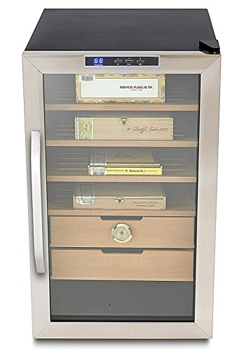 Whynter CHC-251S Stainless Steel 400-Cigar Cooler Humidor, 2.5 Cubic Feet