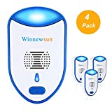 Allsmartlife Ultrasonic Pest Repeller, Newest Electronic Bug Repellent Plug in Indoor Use Pest Control Repeller Effectively Resistance Mosquito, Roach, Rat, Bug (Eco-Friendly & Pet Safe 4-Pack)