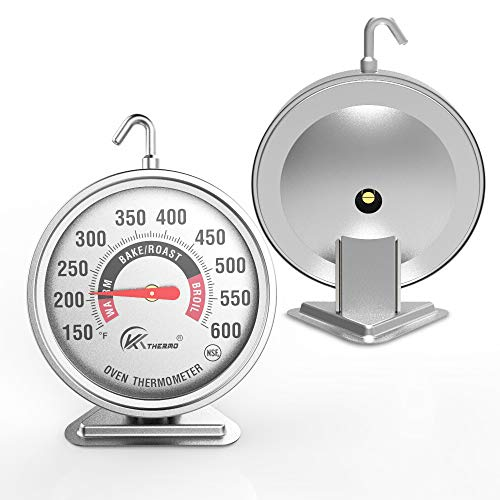 "Large 3"" dial oven thermometer - KT THERMO (2019 New Design) NSF-approved accurately easy-to-read extra large clearly display shows marked temperatures for Professional and Home Kitchens Cooking (1)"