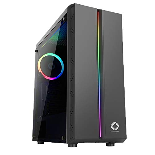 CHIPTRONEX-MX1-RGB-Mid-Tower-Cabinet-USB-30-Tempered-Glass-RGB-Fan-Preinstalled