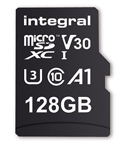 41yWdfd24lL - Integral 128GB Micro SD Card Premium 4K High Speed Memory Microsdxc Up To 100MB/S V30 UHS-I U3