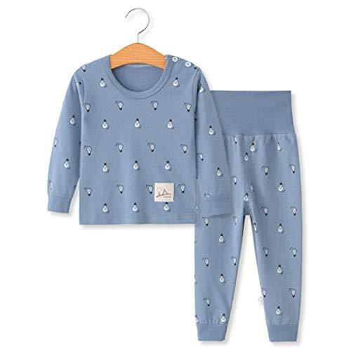 YANWANG 100% Organic Cotton Baby Boys Girls Pajamas Set Long Sleeve Sleepwear(3M-5T)(Tag65/3-4T,Pattern 7)