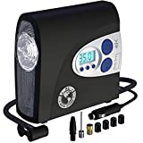 P.I. AUTO STORE Premium Air Compressor Tire Inflator, Portable 12V DC Electric Pump, Auto Shut Off, Digital Pressure Gauge, LED Light. New improved version