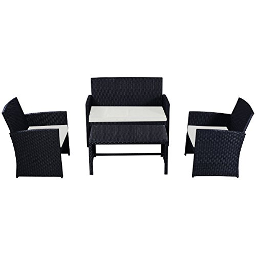 Goplus-4-PC-Rattan-Patio-Furniture-Set-Garden-Lawn-Sofa-Cushioned-Seat-Wicker-Sofa