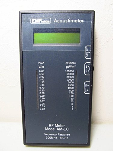Acoustimeter RF Meter Model AM-10 Radio Frequency Meter EMF Protection. The Best RF Detector! Protect Yourself from EMF