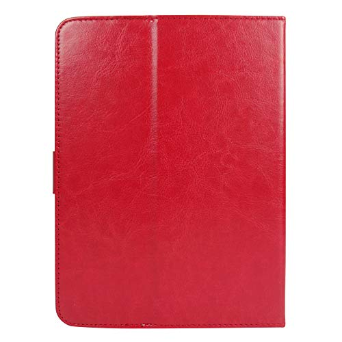 41yp6cmawgL Emartbuy Smart Hard Back Flip Stand Wallet Cover for Amazon Fire HD 7 Tablet : Size (7-8 Inch) - Red Plain
