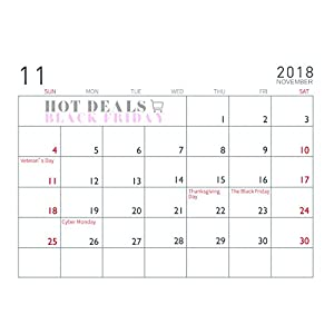 2018 Desk Monthly Calendar - ISEYMI (2018 New Design) Daily Calendar Planner For School,Classroom,Family Including Jan.2018 To Feb.2019 Agenda Notepad Best New Year Gift Sell Price