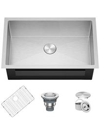 X-Home-30-x-18-Inch-Undermount-Kitchen-Sink-16-Gauge-304-Stainless-Steel-Single-Bowl-Bar-Prep-Sink-with-R10-Corners-Fits-33-inch-Cabinet