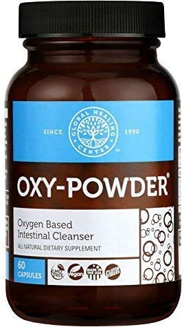 Global Healing Center Oxy-Powder Oxygen Based Safe and Natural Colon Cleanser and Relief from Occasional Constipation (60 Capsules) 1