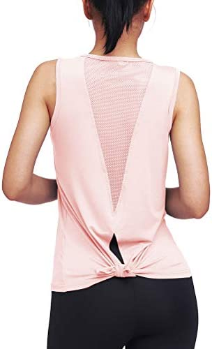 Mippo Womens Cute Workout Clothes Mesh Yoga Tops Exercise Gym Shirts Running Tank Tops 7