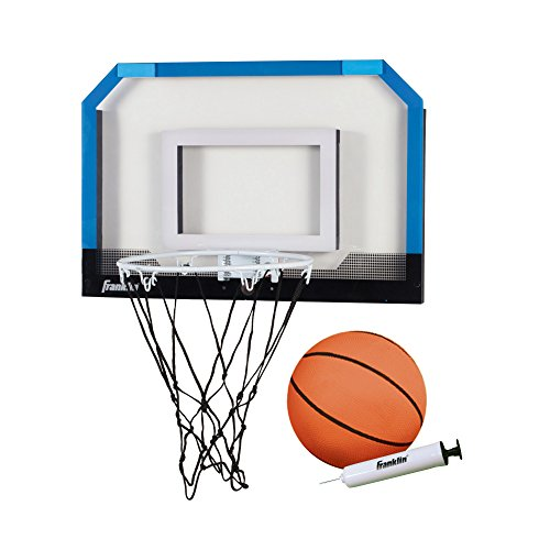 Franklin Sports Over the Door Indoor Mini-Basketball Hoop for Kids with Ball and Pump - Breakaway Pro Style Steel Rim - Shatter Resistant Backboard