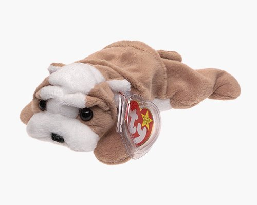Ty Beanie Babies - Wrinkles the Dog - Retired by Beanie Babies