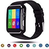 C-Xka Bluetooth Smart Watch Waterproof Smartwatch with Camera SIM TF Card Slot Touch Screen Phone Unlocked Cell Phone Watch Sports Smart Wrist Watch for Men Women Kids Compatible Android iOS