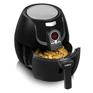 Tower T14004 Low Fat Rapid Air Fryer with Digital Timer