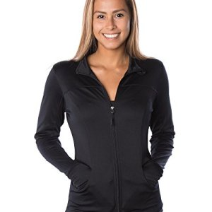 Global Women's Slim Fit Lightweight Full Zip Yoga Workout Jacket 6 Fashion Online Shop Gifts for her Gifts for him womens full figure