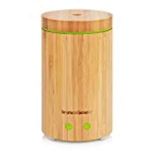 InnoGear Real Bamboo Essential Oil Diffuser Ultrasonic Aromatherapy Diffusers with 7 LED Colorful Lights and Waterless Auto Shut-off, 160ml