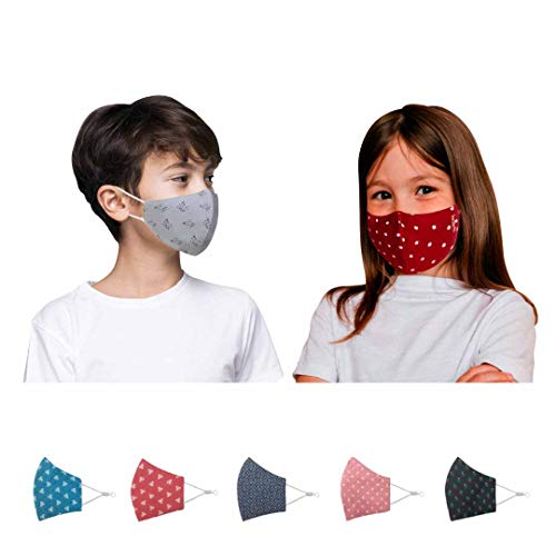 Kawach Face Mask for Kids (Product of IIT Delhi Startup)   Reusable and Washable   99% Filtration   Anti Pollution   Cotton Protective Mask   Fashionable and Reversible (Assorted)