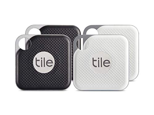 Tile Pro with Replaceable Battery - 4 pack (2 x Black, 2 x White) - NEW