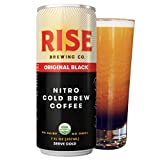 RISE Brewing Co. | Original Black Nitro Cold Brew Coffee (12 7 fl. oz. Cans) - Sugar, Gluten & Dairy Free | USDA Organic and Non-GMO | Clean Energy, Low Acidity, Naturally Sweet | 0 Calories