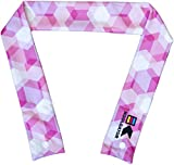 KOOLGATOR Cooling Neck Wrap - Pink Geometric Design