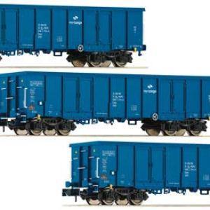 Fleischmann 852329 PKP Cargo Eaos Gondola Set (3) VI 41zHP3WuGLL