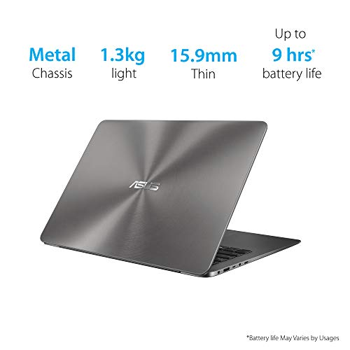 ASUS ZenBook UX430UA-GV307T Intel Core i5 8th Gen 14-inch FHD Thin and Light Laptop (8GB RAM/256GB SSD/Windows 10/Integrated Graphics/1.30 kg), Grey 3