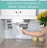 Innovia Automatic Smart Dispenser, Uses Regular Paper Towels, Saves Space, Stylish, Mounts Under Cabinets, Stainless Steel Finish
